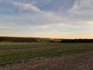 Paysage du Condroz lever de soleil